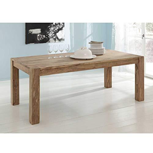 Esstisch Yoga Sheesham Massivholz Tisch 200x100 Landhausstil von Wolf Möbel Esszimmertisch Holz