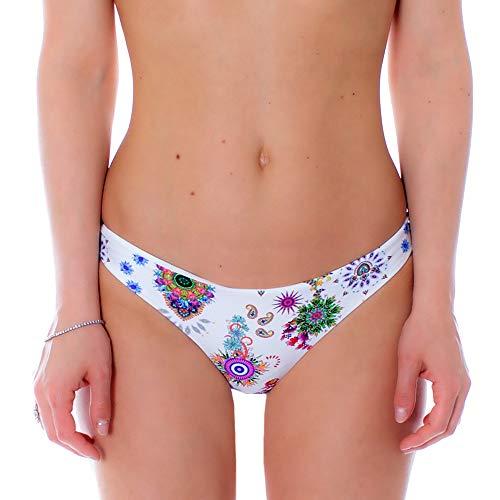 Desigual Damen Biki_REM B Bikinihose, weiß, XL