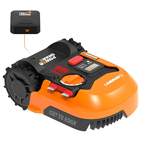 Worx WR143 Landroid M 20V Power Share Robotic Lawn Mower with GPS Module Included,Black and Orange