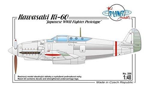 Planet Models plt206 – Modélisme Jeu de Kawasaki Ki 60 Japonais WWII Fighter Pro