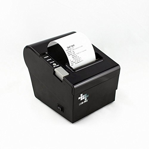 EOM-POS Thermal Receipt Printer - USB, Ethernet/LAN, Serial Ports - Auto Cutter - Beeper/Buzzer- Cash Drawer Port - Paper Width 3 1/8' (80mm) - for Linux and Windows - NOT for Square