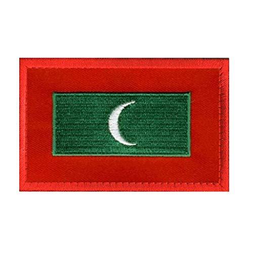 ShowPlus Malediven Flagge Patch Militär bestickt Taktischer Patch (Malediven)