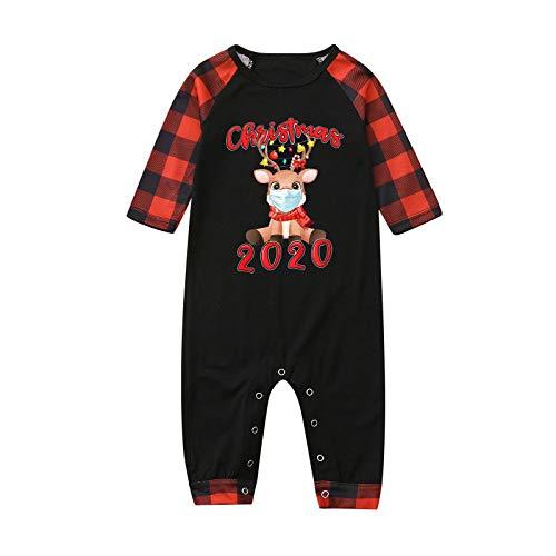 IFOUNDYOU Damen Frauen Mutter Weihnachten Familie Pyjama Lässig Nachthemd Homewear...