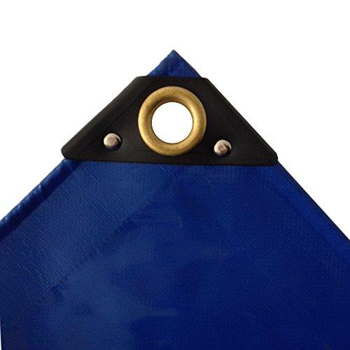 650 g/m² blaue PVC Abdeckplane 2 x 3m (6m²) LKW Plane Industrie Gewebeplane ÖsenUV stabil reissfest wasserdicht Plane Schutzplane