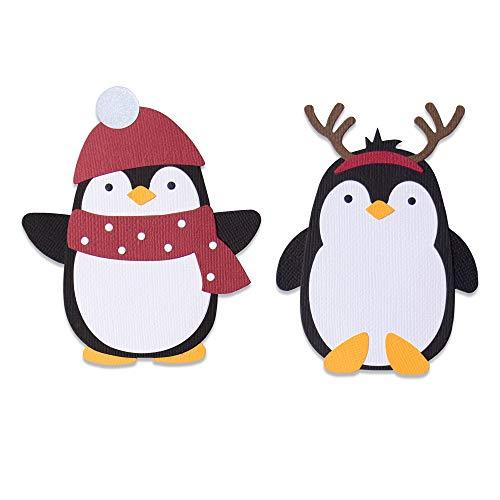 Sizzix 664499-Fustella Bigz, Motivo: Amici Pinguini di Olivia Rose Fustelle per Scrapbooking, Multicolor, Taglia unica