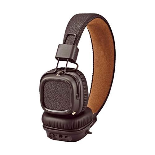 KJCHEN Casque Bluetooth Casque Mobile Casque Universel Musique Sports Mignons Casque de Son Lourd (Color : Brown)
