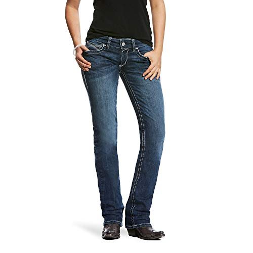 Ariat Women's R.E.A.L Mid Rise Straight Jean, Ivy Dresden, 27 S