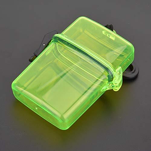 Plástico transparente conveniente de la caja del sello subacuático con el gancho de cuerda, para el kayak de la canoa que practica surf(Transparent yellow)