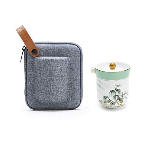 Brightz Tetera, Portátil de Viaje Juego de té Bone China Express Ministerio del Interior de la Copa Tazas de té,