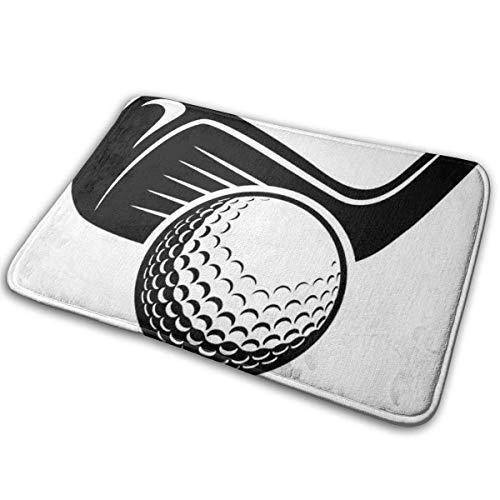 LaoJiNan-shop Universal Anti SlipDoor Mat & ndash; Größe 16 x 24, Eingang Außen- und Innen-Begrüßungsmatte, rechteckige rutschfeste Fußmatte Clip Art Golfball