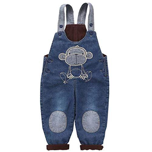 RUXIYI Baby Jungen Mädchen Denim Latzhose Jeans Latzhose Kinder Weiche Baumwolle Denim Lässiger Stil