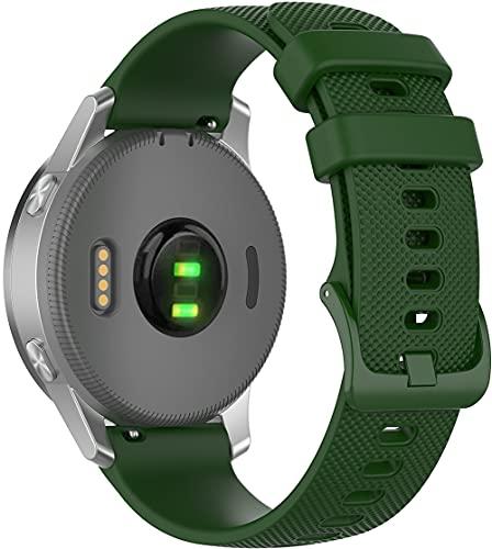 Classicase Correa de Reloj Compatible con Withings Steel HR 36mm / ScanWatch 38mm / Move/Move ECG/Activité Steel, Blando Silicona Narrow Delgada Deporte Reemplazo Pulsera (18mm, Pattern 1)