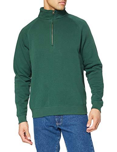 Fruit Of The Loom Herren Premium 70/30 Sweatshirt mit Reißverschluss am Kragen (2XL) (Flaschengrün)