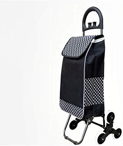 Yxsd Einkaufstrolley, klein, tragbar, für ältere Menschen, Klappstuhl, Haushalts-Trolley (Farbe: Schwarz, Größe: ohne Sitz)