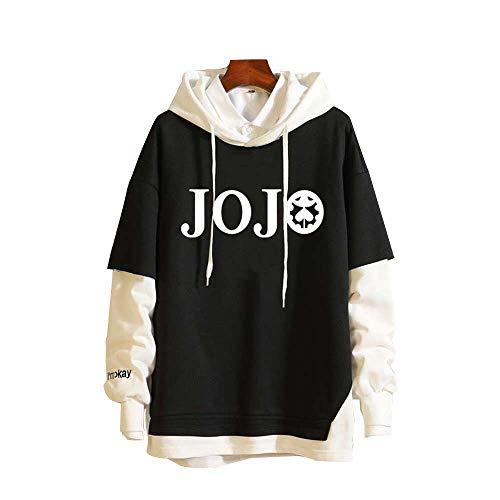Spricen Hoodie Hommes Femmes Anime JoJo's Bizarre Adventure Sweat À Capuche High School Costume Pull Pullover Sweat-Shirt Ado Manteau Veste M