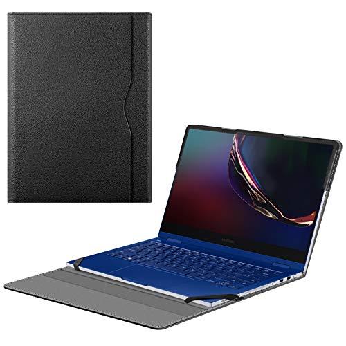 Fintie Schutzhülle für Samsung Galaxy Book Flex 13,3 Zoll NP930QCG / Samsung Galaxy Chromebook 13 XE930QCA (PU-Leder, nicht passend für Galaxy Book Flex Alpha 13,3 NP730QC), Schwarz