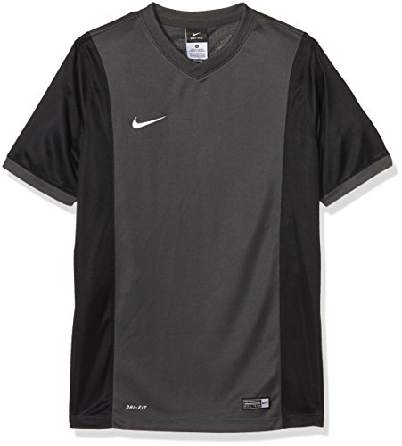 NIKE Short Sleeve Top YTH Park Derby Jersey Camiseta, Niños, Gris/Negro/Blanco (Anthracite/Black/Anthracite/White), L