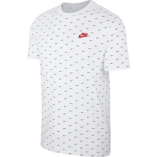 Nike NSW SS Mini Swoosh - Camiseta para hombre 102 W/Unvre S