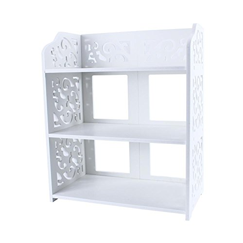 TKSE - Estante para zapatos, 3 niveles, zapatero, estante para zapatos, almacenamiento en soporte para armario en el suelo, iluminación o dormitorio, color blanco (3 cajas)