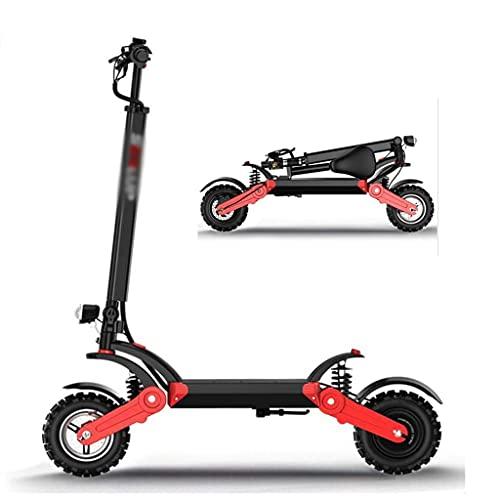 YANGDONG-Accesorios para bicicletas- Ciudad COMTE Scooter eléctrico, Mini scooter portátil plegable rápido con 500W Motor sin escobillas 48V Batería de litio Luces LED de 12 pulgadas Off-Road Biciclet