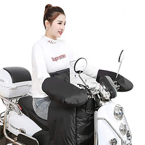 Gants Moto Hiver Automne Universel Manchon Poignées de Guidon Moto Imperméable Anti-Vent/Froid Moufles de Protection Thermique Doublure Velours Chaud Epais Protège-Mains pour Scooter Moto Homme Femme