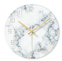 SfHx 北欧ガラス大理石のテクスチャ壁時計現代のミニマリストサイレントアート時計クリエイティブリビングルームファッション時計