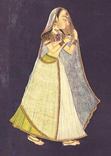 2021: Journal d'art: A4 - Journal de croquis/Agenda/Une page par jour/Carnet à dessin/Journal d'artiste/Journal créatif/Bloc à dessin/Bloc-notes/ Une dame marchant la nuit tenant une lampe à huile