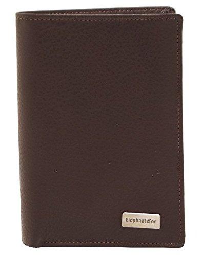 Design Geldbeutel Herren Leder schwarz schwarz, braun (Braun) - ELEN772-5913Marron