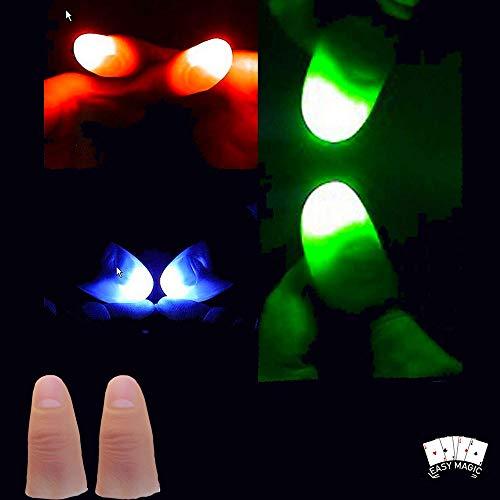 Light Up Thumbs Magic Tricks Tips Bundle x3 PAIRS 1xRed 1xBlue 1xGreen   LED Thumbs   Light Up Magic Trick