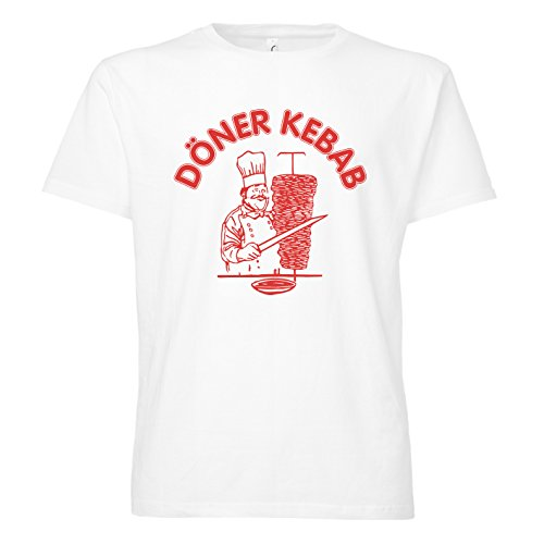 ShirtWorld - Döner Kebab - T-Shirt L, Weiß