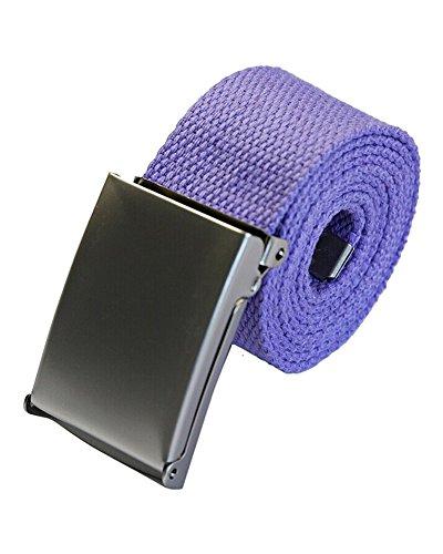 SAMGU Mode unisexe plaine sangle ceinture ceinture ceinture en toile Casual Couleur Violet