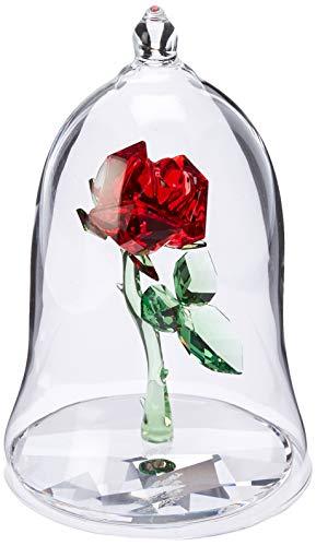 Swarovski Verzauberte Rose Figur, Kristall, Mehrfarbig, 9 x 6.2 x 6.2 cm