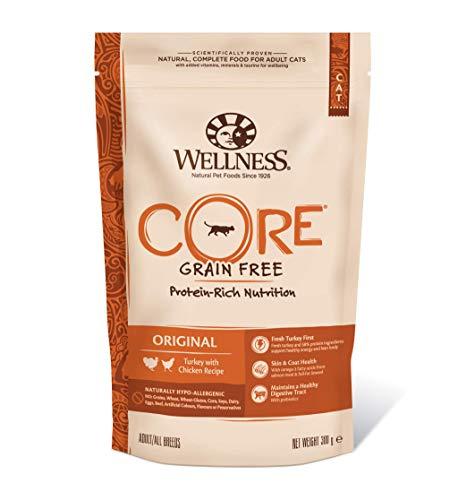 Wellness CORE Original Getreidefreies Katzenfutter Trocken, Hoher Fleischanteil, Pute und Huhn, 300 g