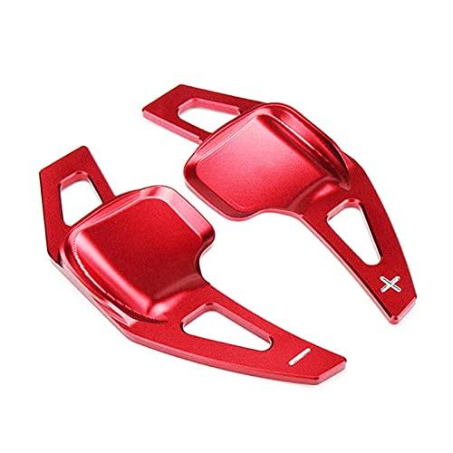 Cambio de remo extendido Paleta De Cambio De Aluminio, Extensión De Paleta De Cambio De Volante Para BM-W 3 5 Series F30 F32 F10 F20 F22 F15 F16 X1 X3 X4 X5 (Color : Rojo)