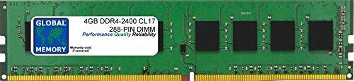 4 GB DDR4 2400 MHz PC4-19200 288 Pines DIMM Memoria RAM para