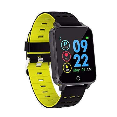 LRWEY Fitness Smart Watch, 1,54 Zoll Farbe Vollbild IP68 Wasserdichte Pulsuhr Smart Watch, für Android iOS