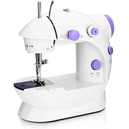 Elektrische naaimachine, mini-naaimachine, met lampjes en draadsnijden, kan worden gebruikt voor het naaien van gaaskleding, eenvoudige bediening, geschikt voor beginners.