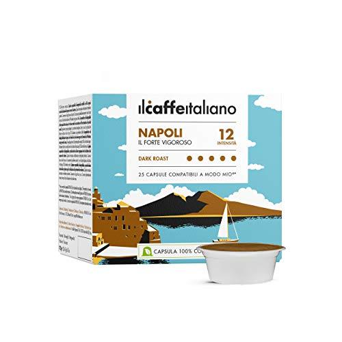 Il Caffè Italiano - A Modo Mio 100 Capsule compatibili Compostabili - Napoli Intensità 12