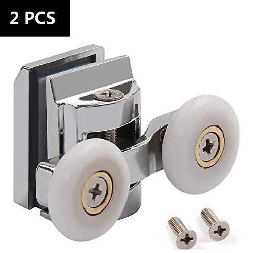 Lot de 4 Roulettes de Porte Coulissante de Placard en Nylon Diam/ètre 30 mm Blanc