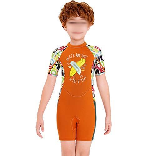 YUTRD ZCJUX 1set Traje de Buceo para niños 2.5mm Neopreno Shorty Traje natación niños niñas Protector Solar surfeando Buceo Buceo Mojado Traje Snorkeling (Size : XX-Large)