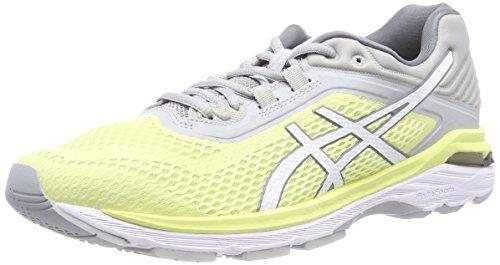 Asics Gt-2000 6, Zapatillas de Running Mujer, Amarillo (Limelightwhitemid Grey 8501), 45 EU
