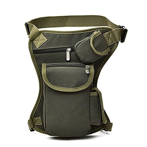 Pernera Moto Bolsas de cintura de lona de los hombres bolsa de la pierna bolsa de los hombres del cinturón de la bicicleta y la motocicleta del cinturón de dinero Fanny Pack para el trabajo 466