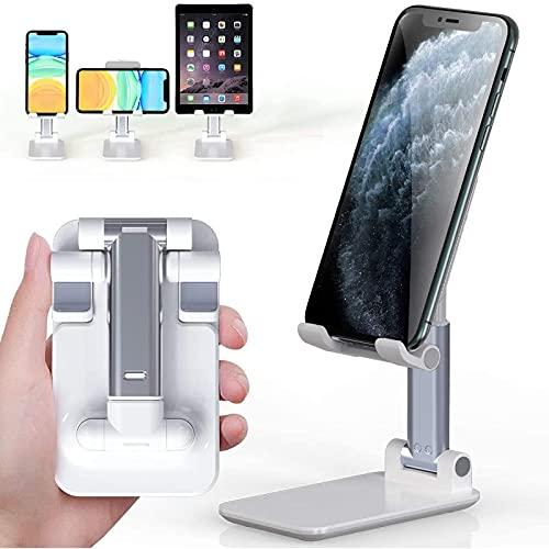 CHUN LING Tenedor de teléfono Plegable portátil, ángulo y Altura Ajustable, Adecuado para iPhone iPad, Tableta de Escritorio Universal