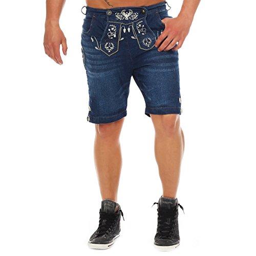 Wanderwald 81T5 Herren Denim Short Premium Falke Trachten Jeans Gr. 46