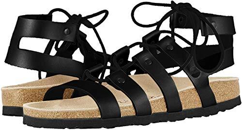 BIRKENSTOCK Papillio Cleo Leather Sandals, Black, EU 42 / US Womens 11-11.5 N