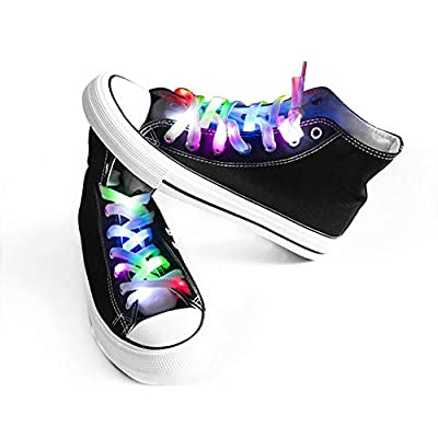 Light Up Shoelaces with 3 Flashing Modes Lighting for Night Party Hip-hop Dancing Cycling Hiking Skating Running (Five-colors)