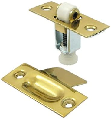 Door Fixing Adjustable Roller Catch Latch Electro-Brass 23mm