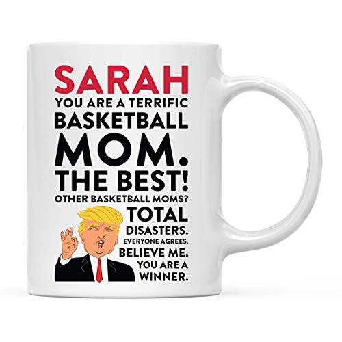 N\A Personalisierte lustige Präsident Donald Trump Kaffee Teebecher Geschenk, Sie sind eine tolle Basketball-Mutter, 1-Pack, benutzerdefinierte Mitarbeiter Freund ihn sie, Geschenkbox