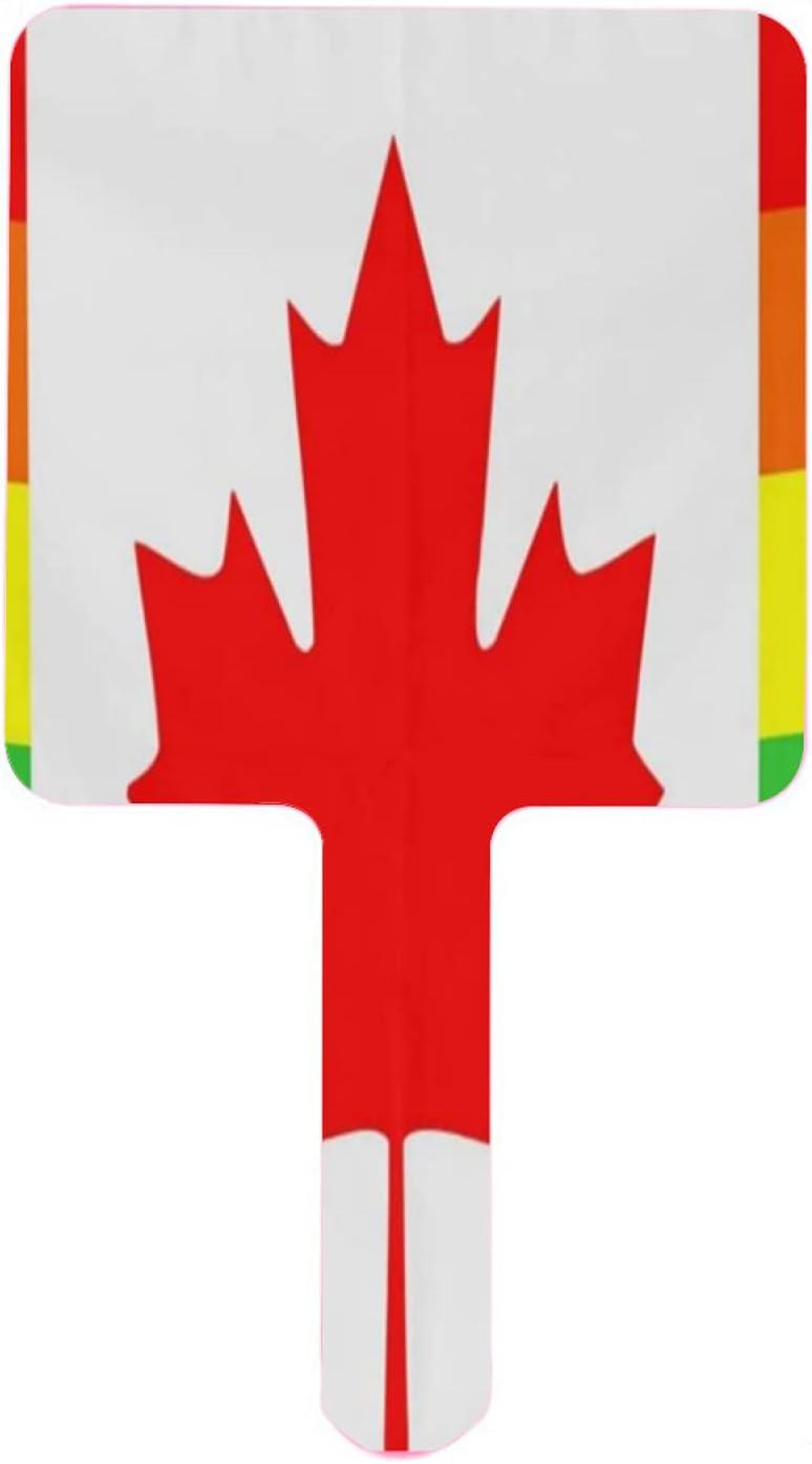 XfaithX Hand Mirror Red Maple Flag Rainbow Portland Mall Salon Barber H Max 61% OFF Canada