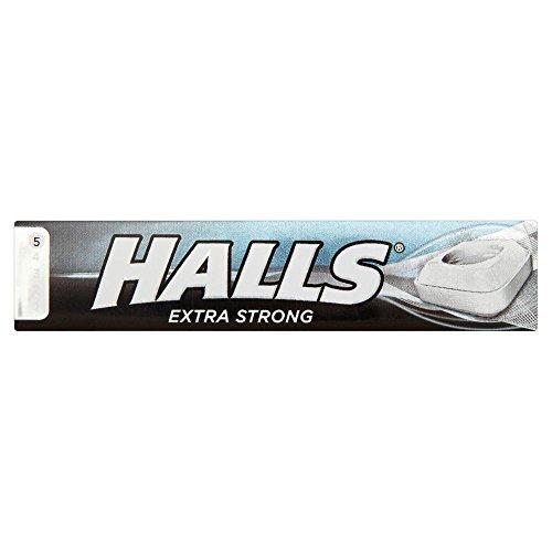Halls - Caramelos de menta extrafuerte - 34 g - Pack de 3 unidades